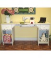 Homespun Olivia White Sewing Cabinet