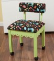 Arrow Green Sewing Chair with Scalloped Base Sewing Notions on Black
